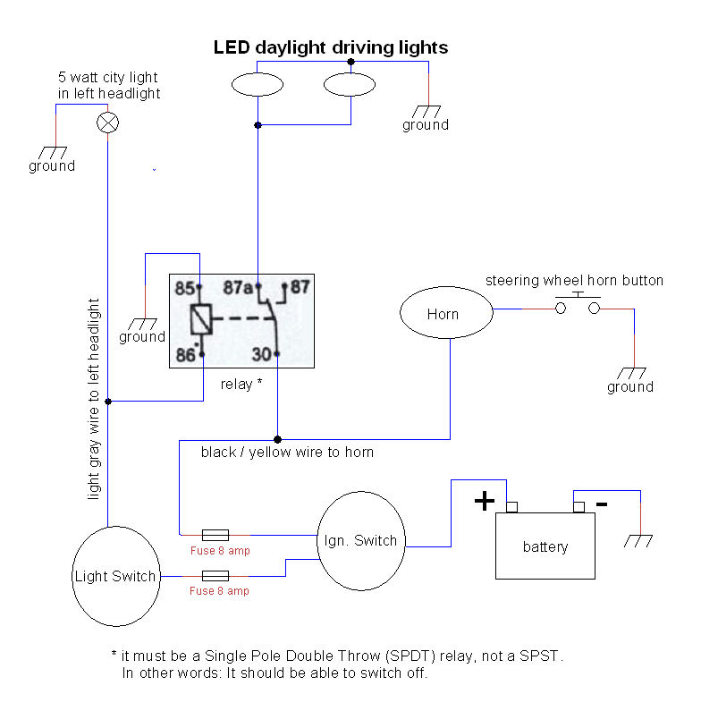 dldl_wiring led daylight driving lights driving lights wiring diagram with relay at gsmx.co